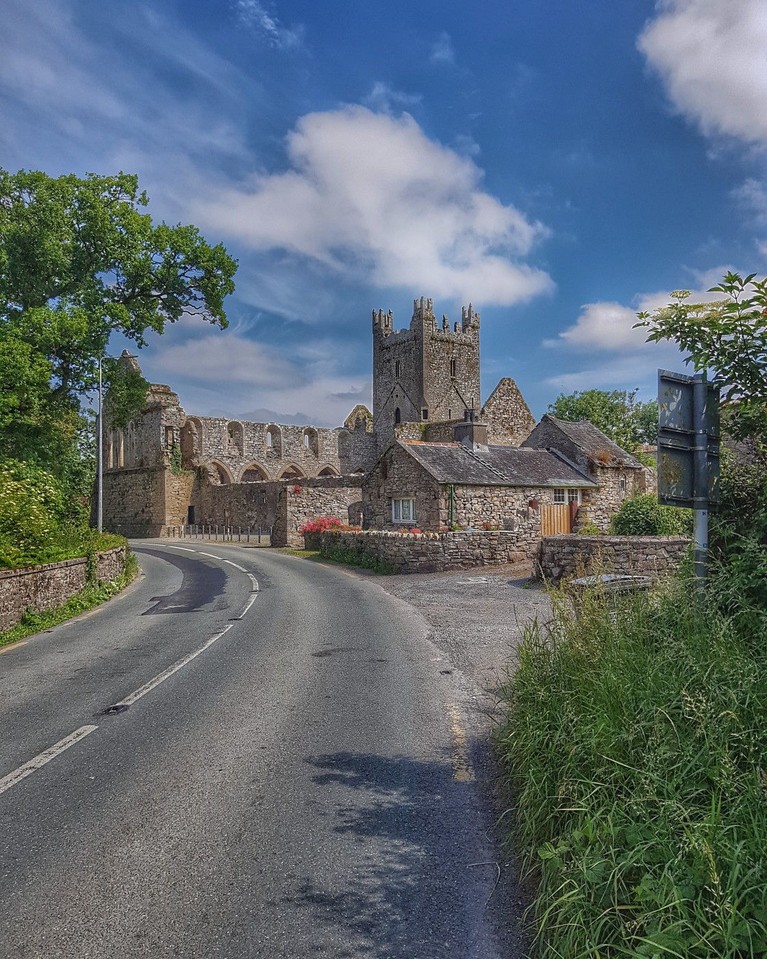 """""""Jerpoint Abbey"""" stock image"""