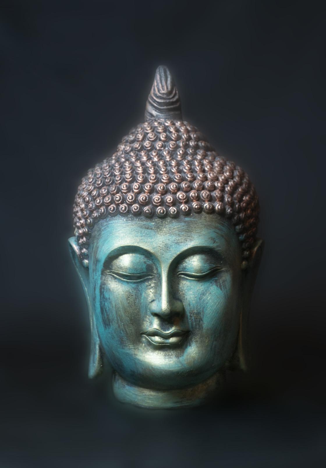 """Head of Buddha"" stock image"