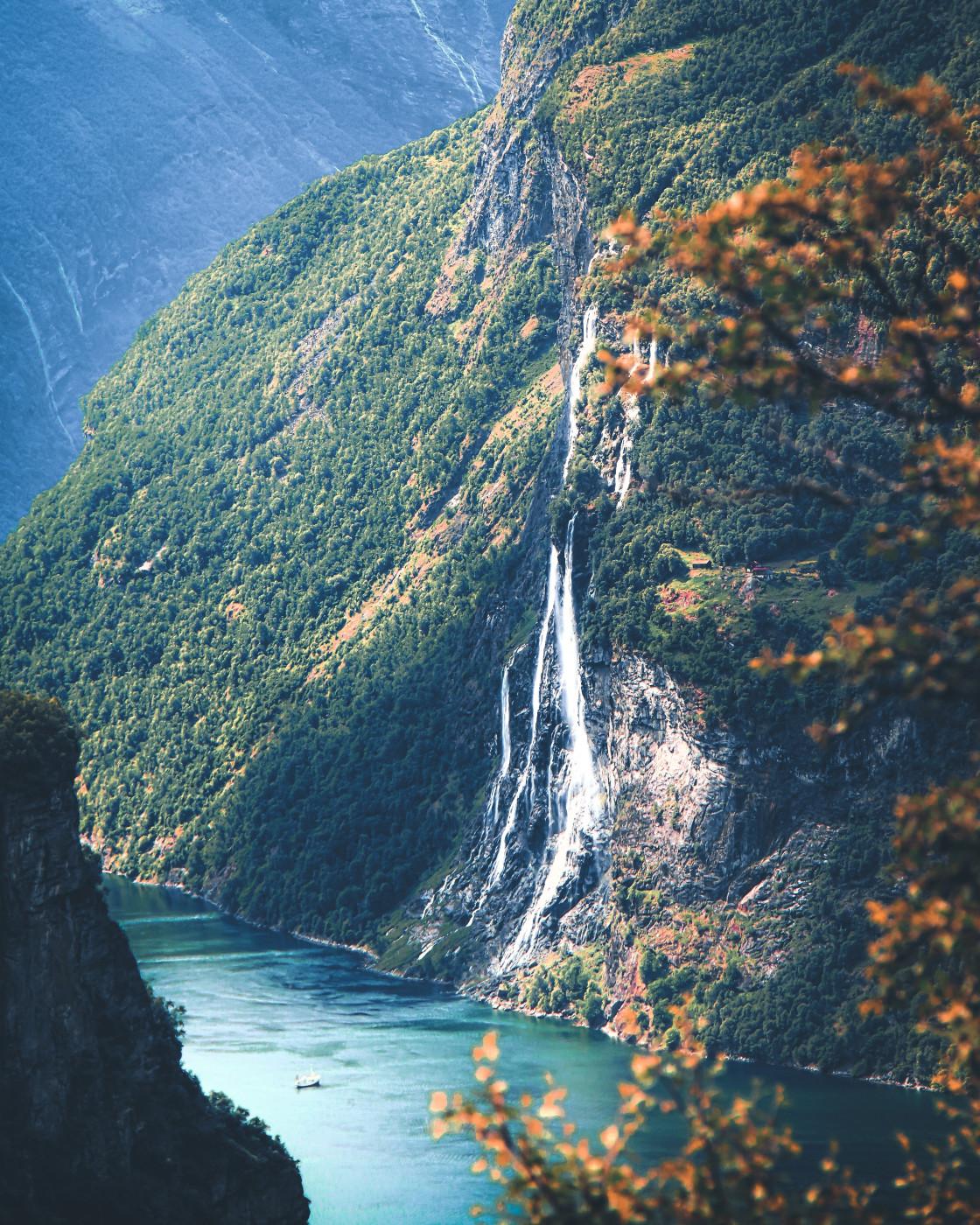 """Geiranger Fjord, Norway. Photo by Thomas Waerness"" stock image"