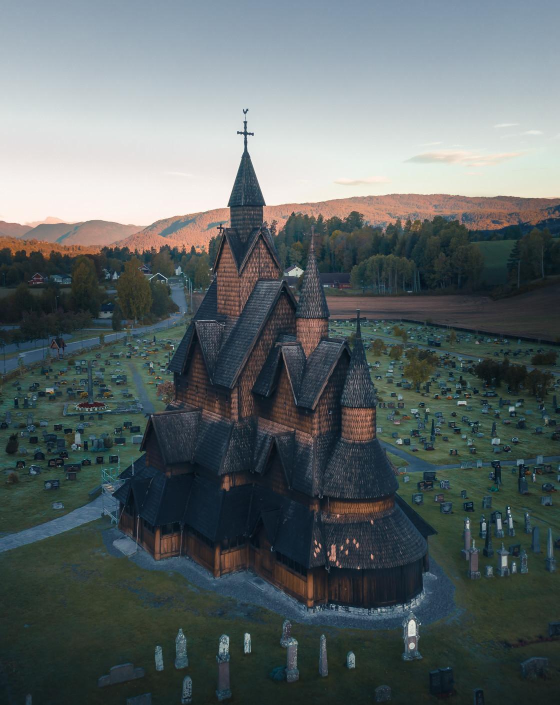"""Heddal Stave Church. Photo by Thomas Waerness"" stock image"