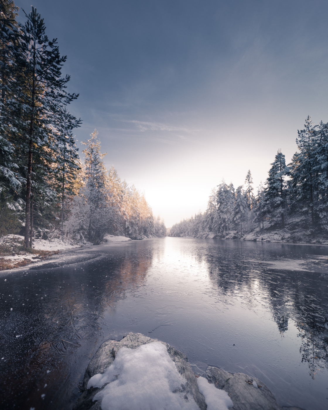 """""""Winter in Norway. Photo by Thomas Waerness"""" stock image"""