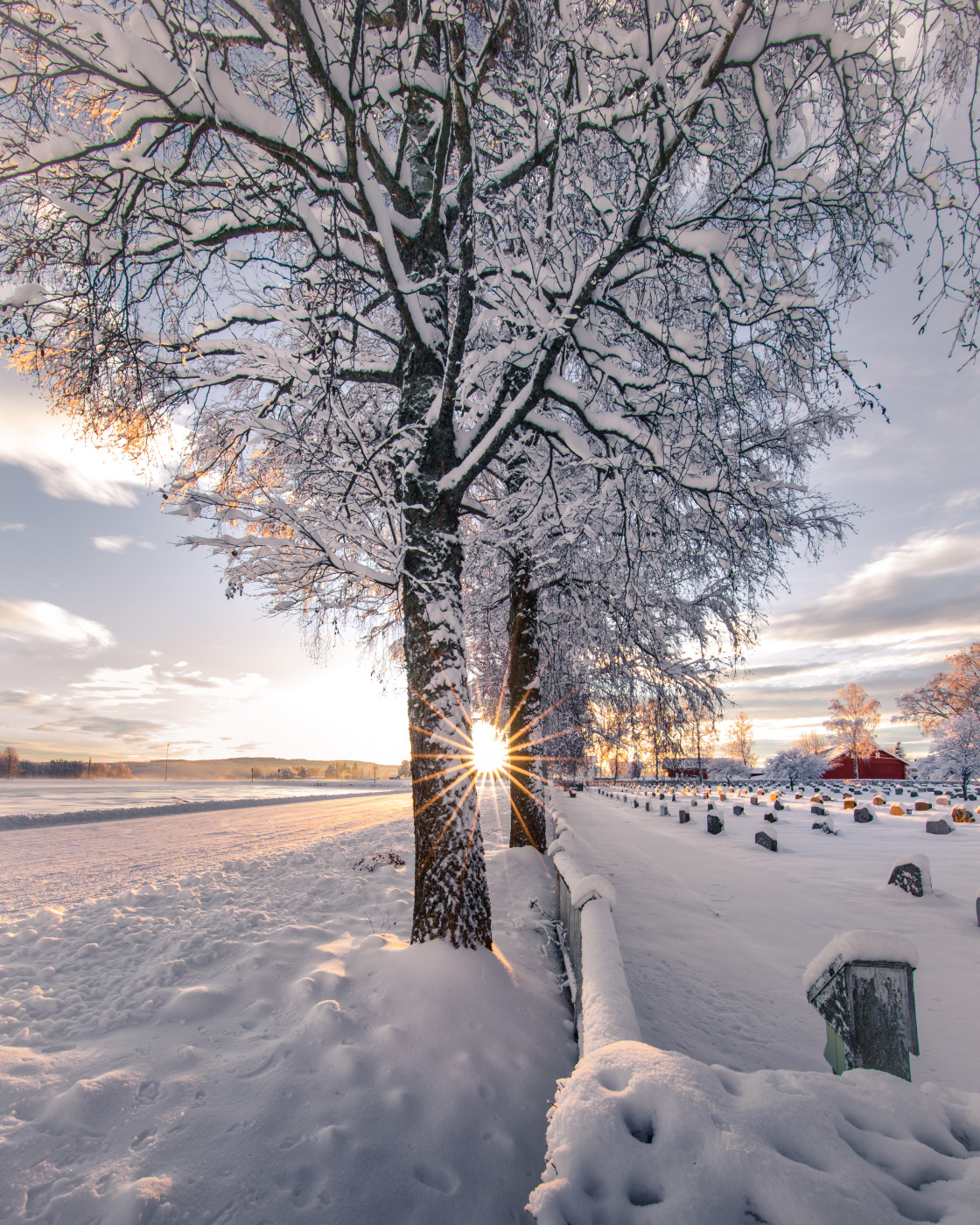 """Winter Sunset. Photo by Thomas Waerness"" stock image"