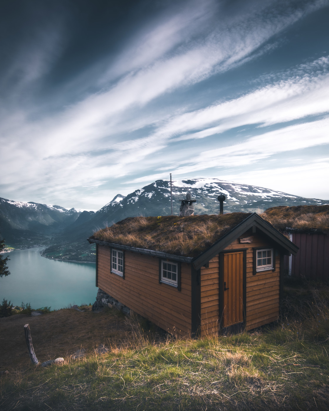 """""""Cabin Life in Norway. Photo by Thomas Waerness"""" stock image"""