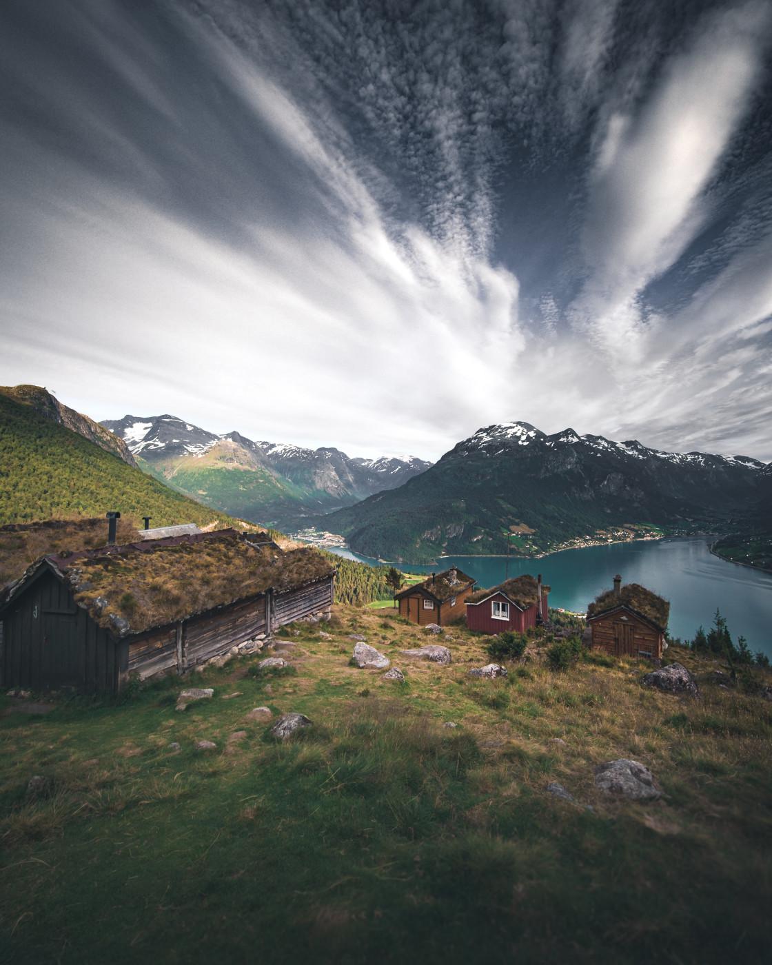 """Rakssetra View in Loen, Norway. Photo by Thomas Waerness"" stock image"