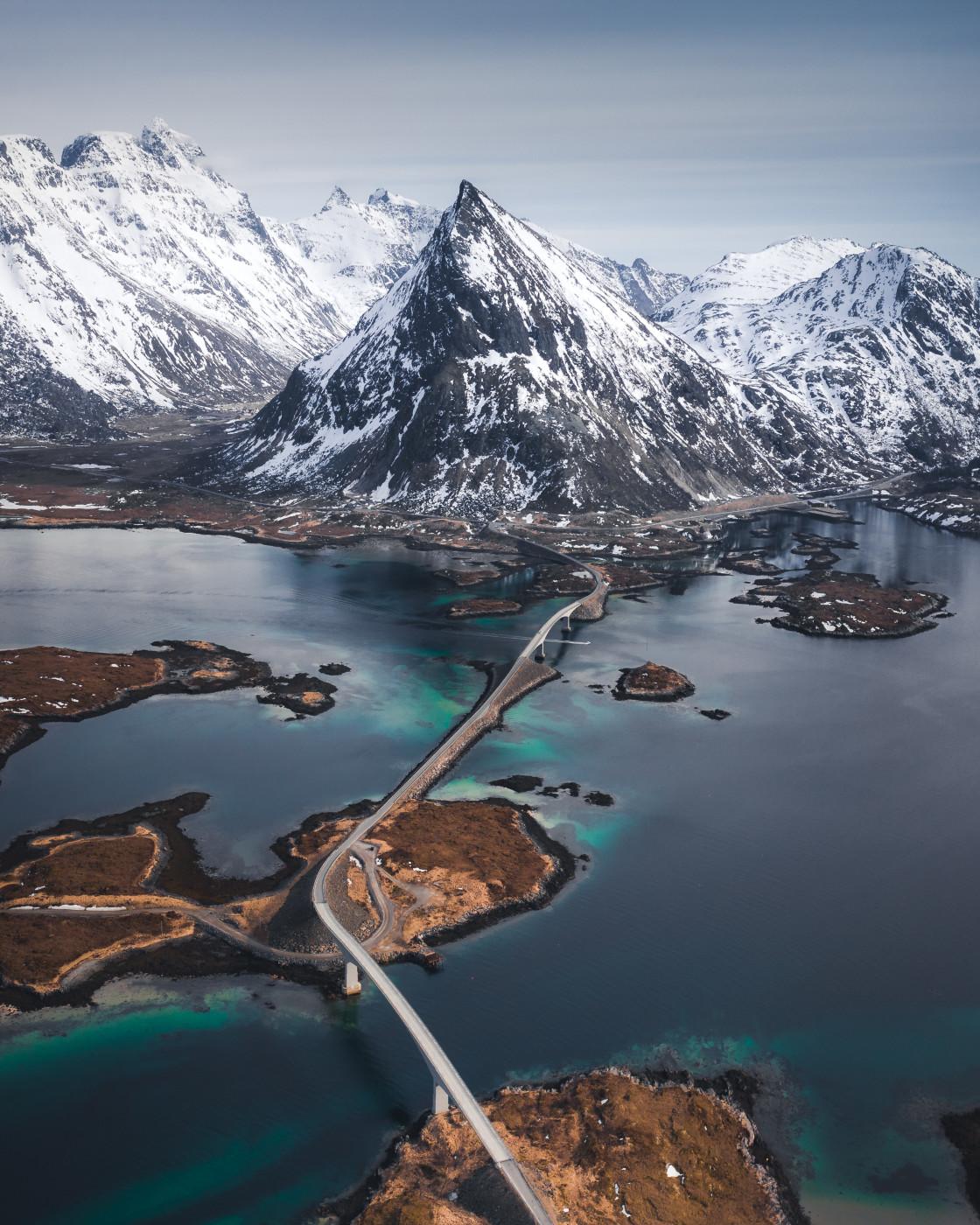 """Fredvang, Lofoten Islands. Photo by Thomas Waerness"" stock image"