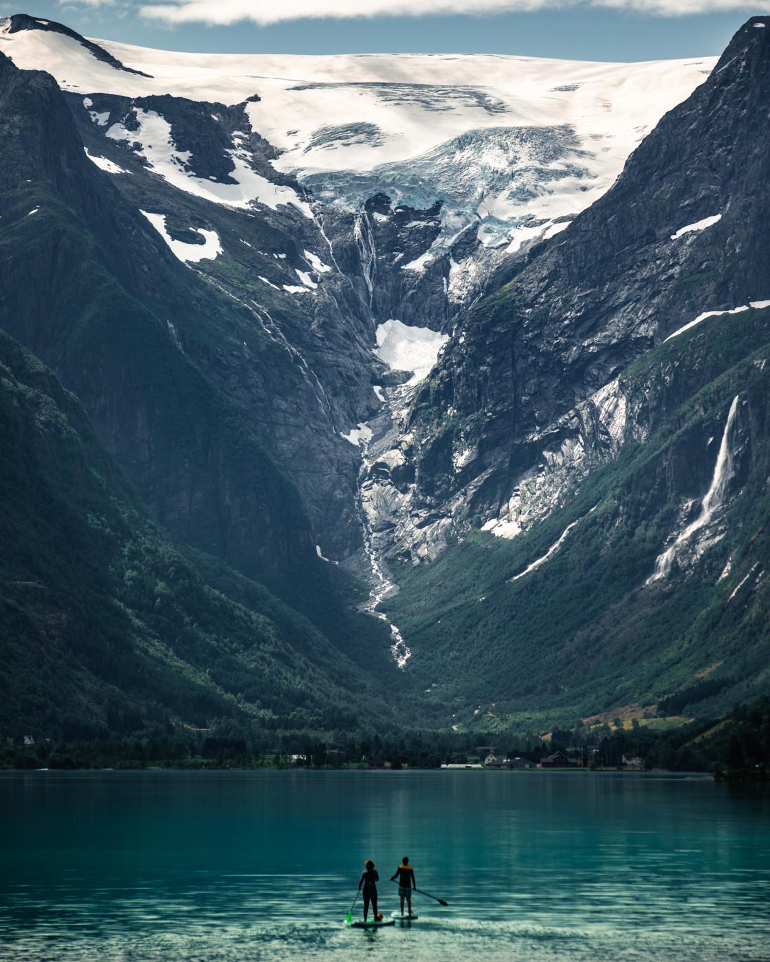 """Oldenvatnet, Norway. Photo by Thomas Waerness"" stock image"