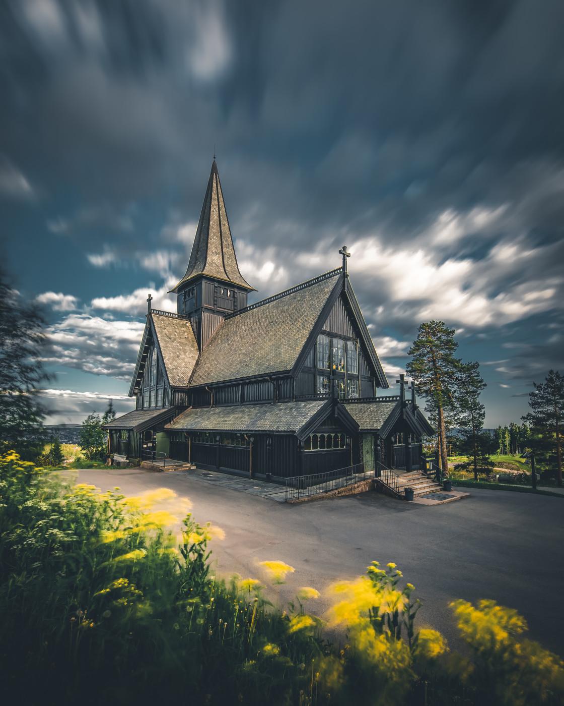 """Holmenkollen Chapel in Oslo, Norway. Photo by Thomas Waerness"" stock image"