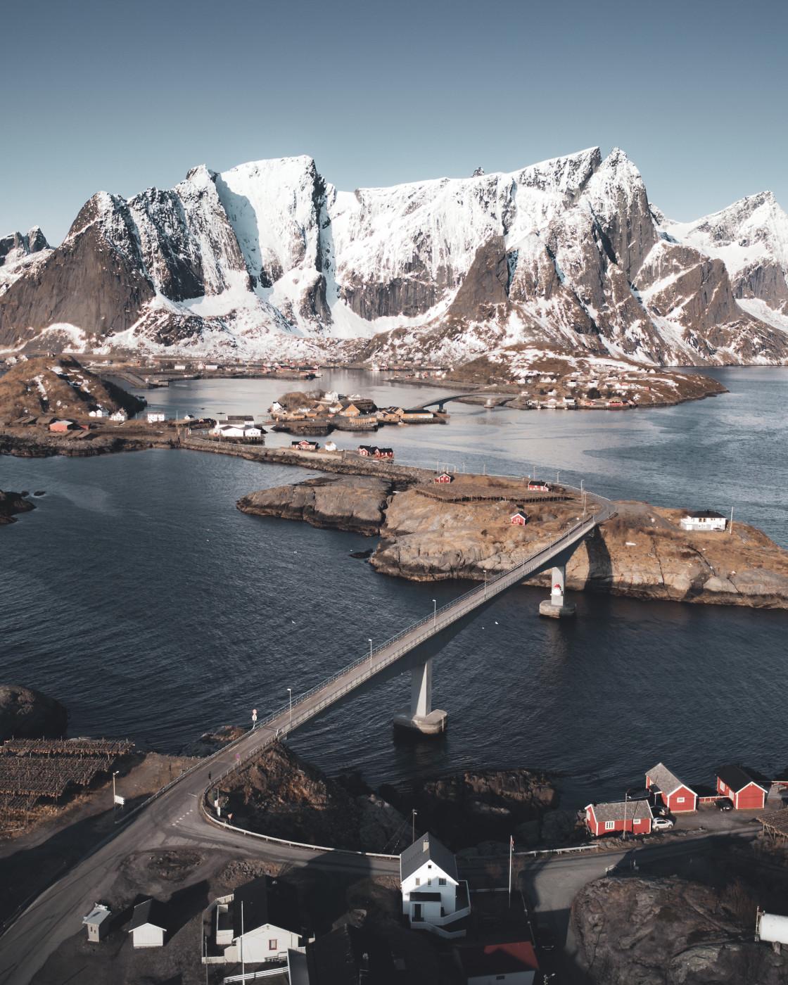 """Hamnøy, Lofoten Islands. Photo by Thomas Waerness"" stock image"