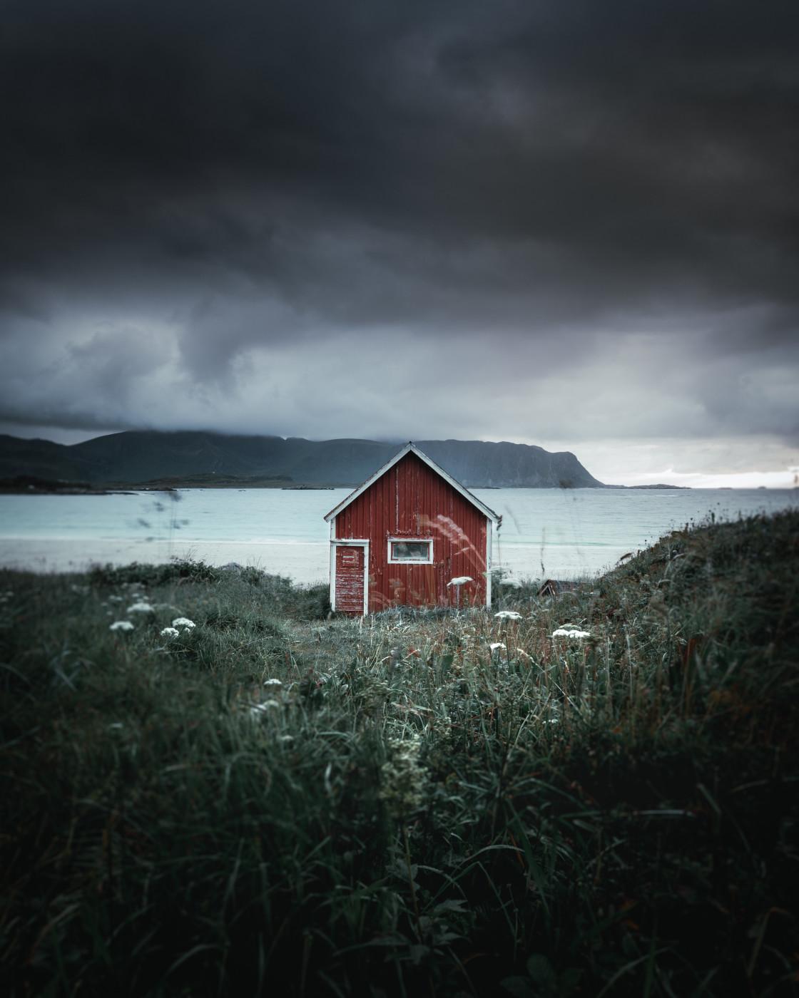 """""""Ramberg, Lofoten Islands. Photo by Thomas Waerness"""" stock image"""