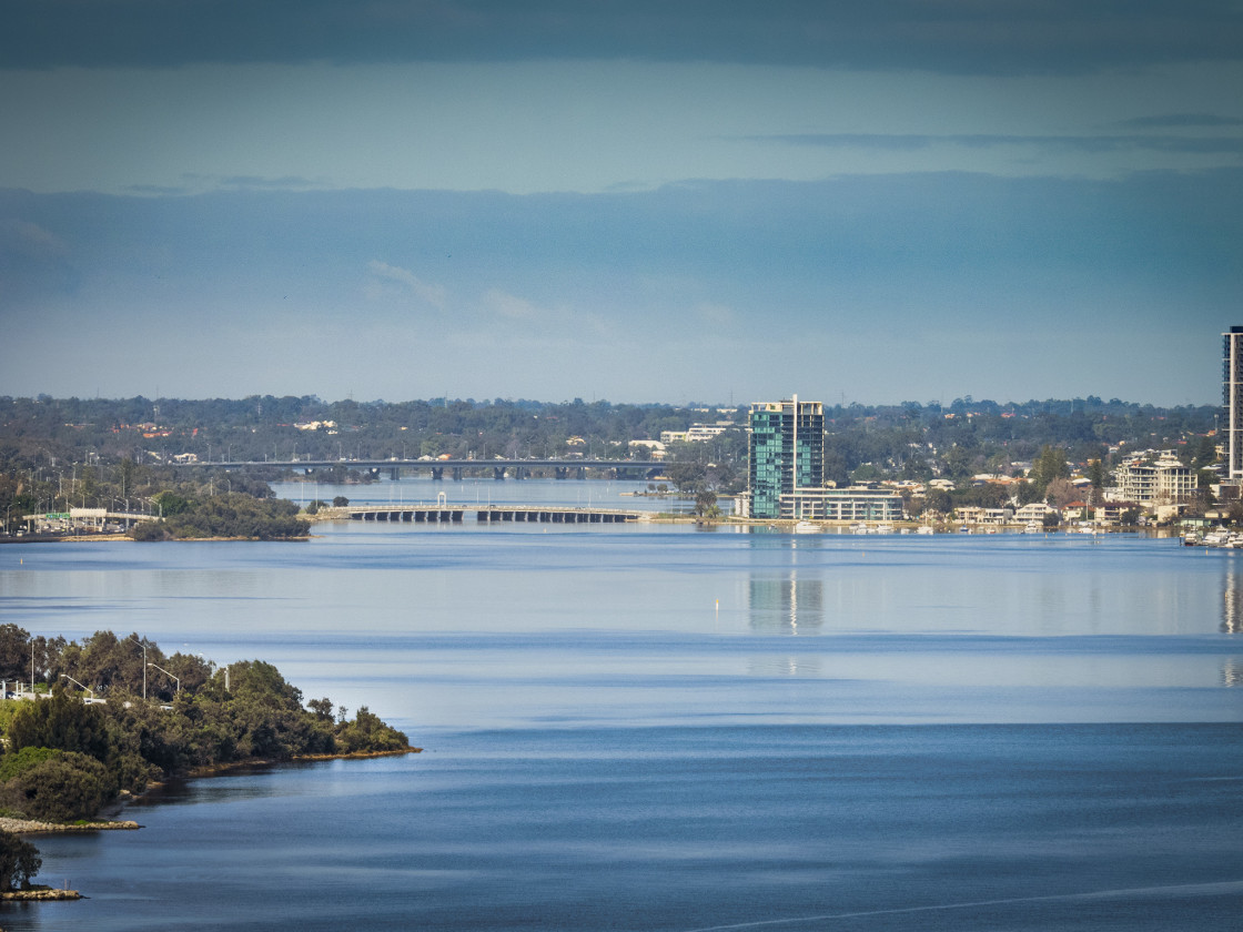 """""""A View to Canning Bridge"""" stock image"""