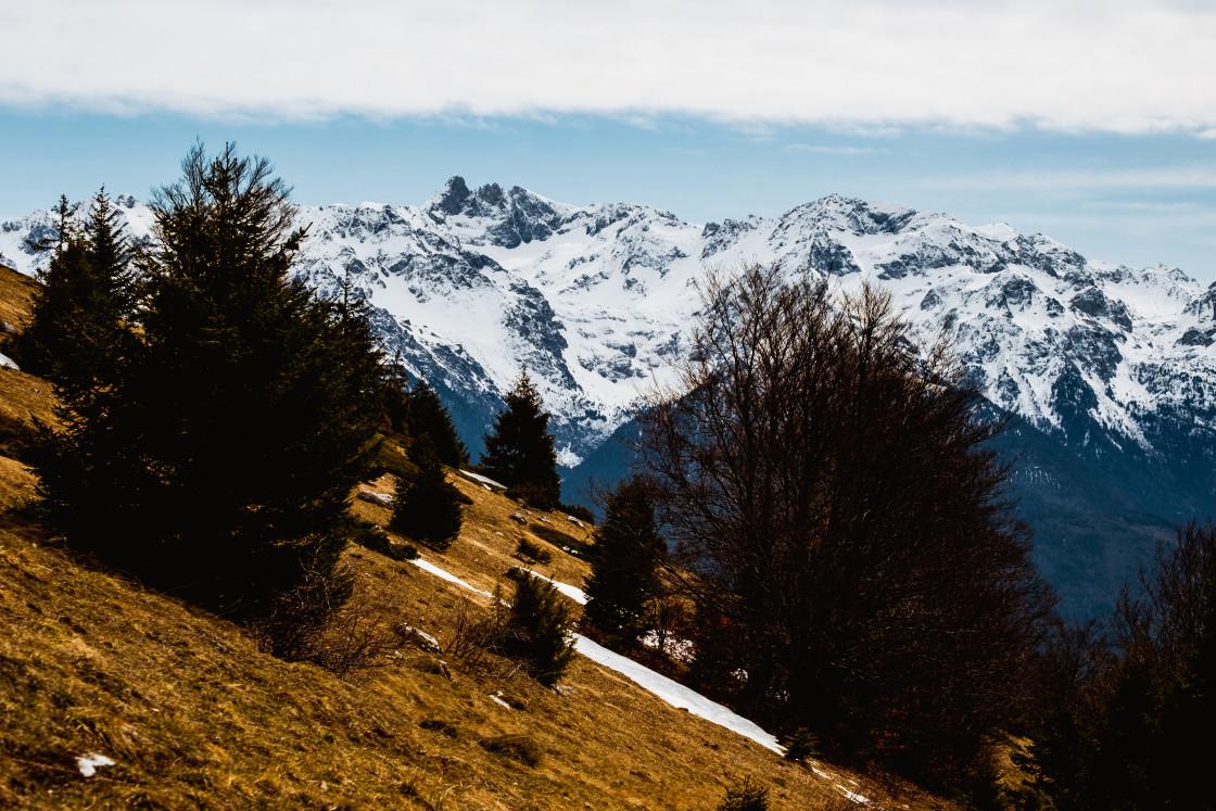 """""""Chaine de Belledonne, France"""" stock image"""