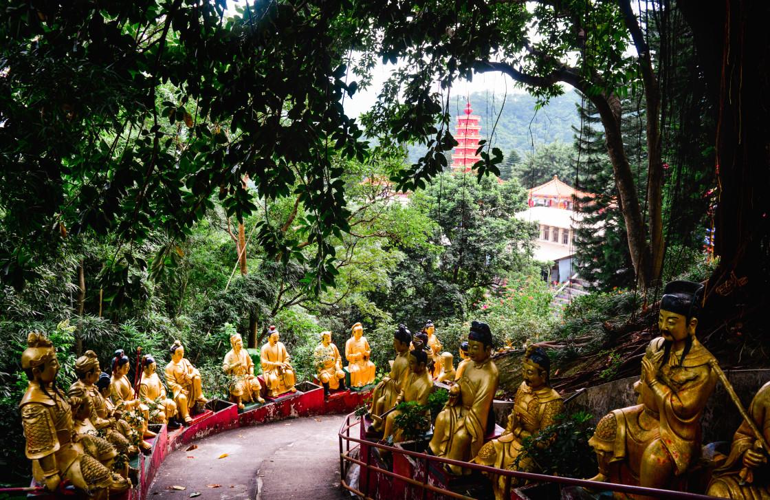 """Ten Thousand Buddhas Monastery, Hong Kong"" stock image"