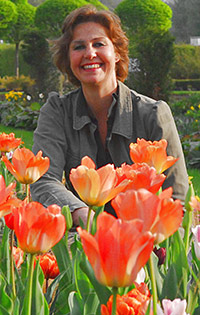 Mami mit Tulpen