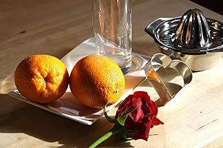 Orangen zum Frühstück
