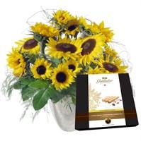 Sonnenblumen mit Gottlieber Hüppen