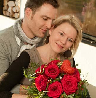 Valentinstags-Liebespaar