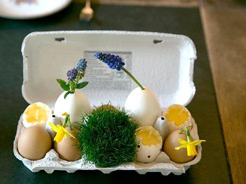 Oster-Deko in Eierschachtel