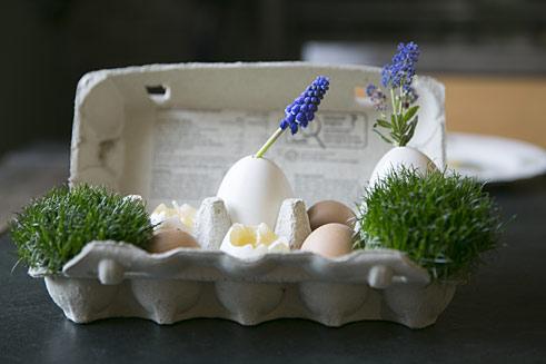 Oster-Deko mit Lavendel