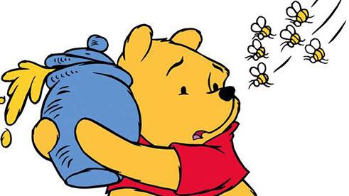 Pu der Bär mit Honig