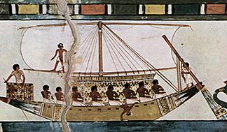 Schiff auf dem Nil
