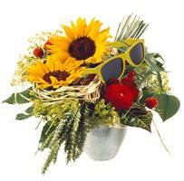 Sonnenblumen mit Sonnenbrille