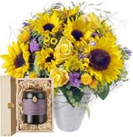 Sonnenblumen mit Honig