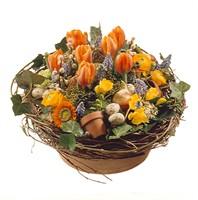 Korb mit Tulpen