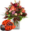 Media 1 - October Bouquet of the Month with chocolate ladybird