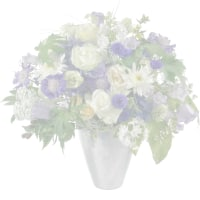 Romantic Hydrangea Bouquet with two teddy bears (white & brown)