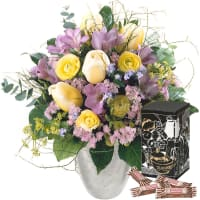 Tender Spring Greetings with Minor Split in trendy gift tin