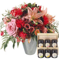Lily princess with honey gift set