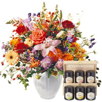 Queen of Indian Summer with honey gift set