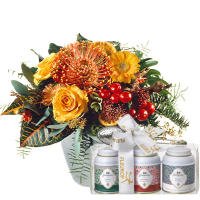 A Radiant Floral Greeting with Gottlieber tea gift set