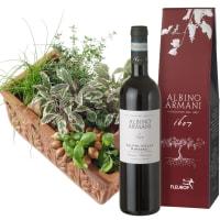 Cassetta aromatica (in terra) con Ripasso Albino Armani DOC (75cl)