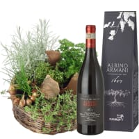 Herb Basket (planted) with Amarone Albino Armani DOCG (75cl)