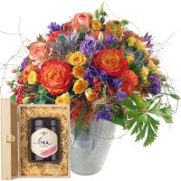 Symphonie avec roses et du miel de fleurs suisse