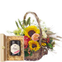 A Basket full of Summer with Swiss blossom honey