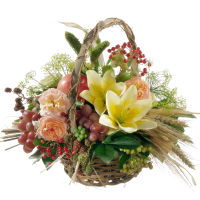 Late Summer Basket with lilies