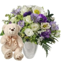 Heaven on earth with teddy bear (white)