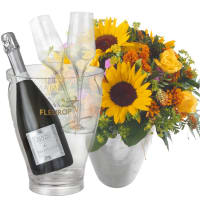 Summer Festival with Prosecco Albino Armani DOC (75 cl), incl. ice bucket and two sparkling wine flutes