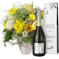 March Bouquet of the Month with Prosecco Albino Armani DOC (75cl)