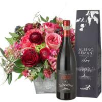Poésie avec des roses et Amarone Albino Armani DOCG (75cl)