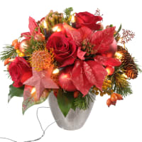 """Glowing"" Bouquet (with Christmas lights)"