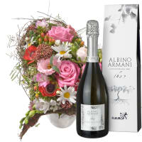 Many Thanks! Bouquet with Prosecco Albino Armani DOC (75cl)