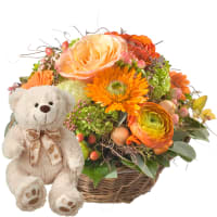 Pure Spring, with teddy bear (white)