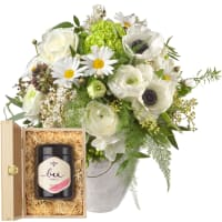 Romantic Spring Bouquet with Swiss blossom honey