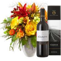 Vedette de l'été avec vin rouge Gudarrà – Aglianico del Vulture (75cl)