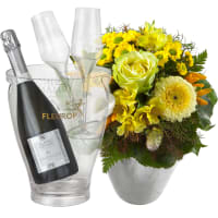 Happy Moments, with Prosecco Albino Armani DOC (75 cl), incl. ice bucket and two sparkling wine flutes