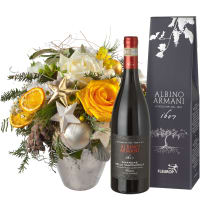 Festive Glory Bouquet with Amarone Albino Armani  DOCG (75cl)