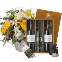 "Festive glory Bouquet with Gudarrà Gift–set ""Southern Italian Essence"""